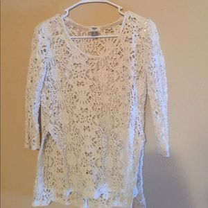 Old navy white lace shirt